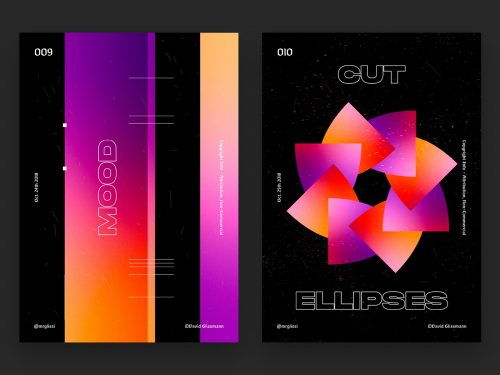 David Glissmann Geometric Monument — Poster Series Chpt. I Gradient Vaporwave – Mood Cut E ...