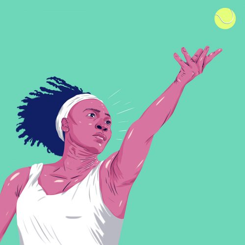 ESPN – DOMINANT 20 – Sports Athlete Illustrations – Serena Williams