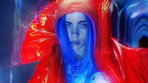 Billie Eilish – Bury A Friend for Numéro Art – liquified photography
