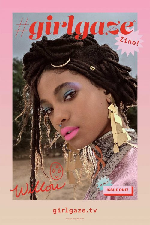 girlgaze.tv magazine graphic design