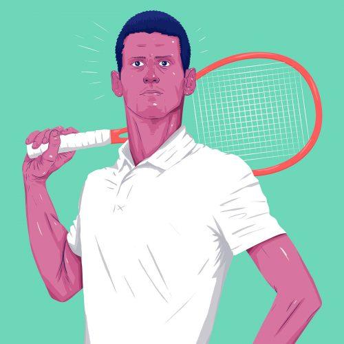 ESPN – DOMINANT 20 – Sports Athlete Illustrations