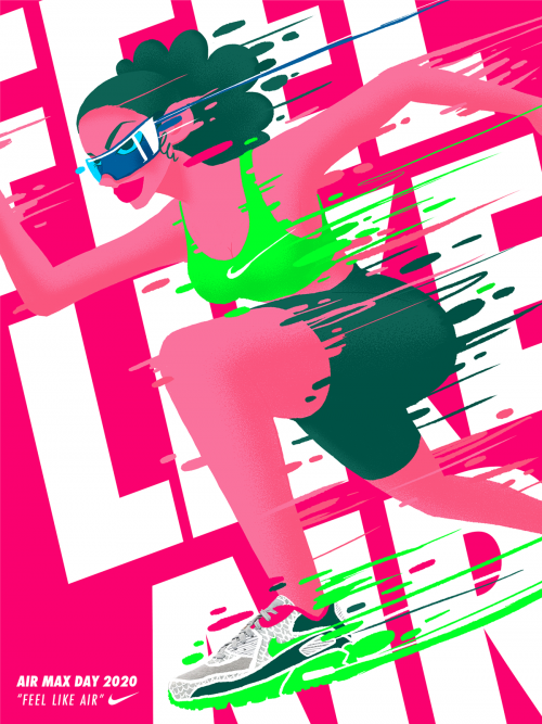 Nike Kiss My Airs Cell Shading Animation and Design Illustration