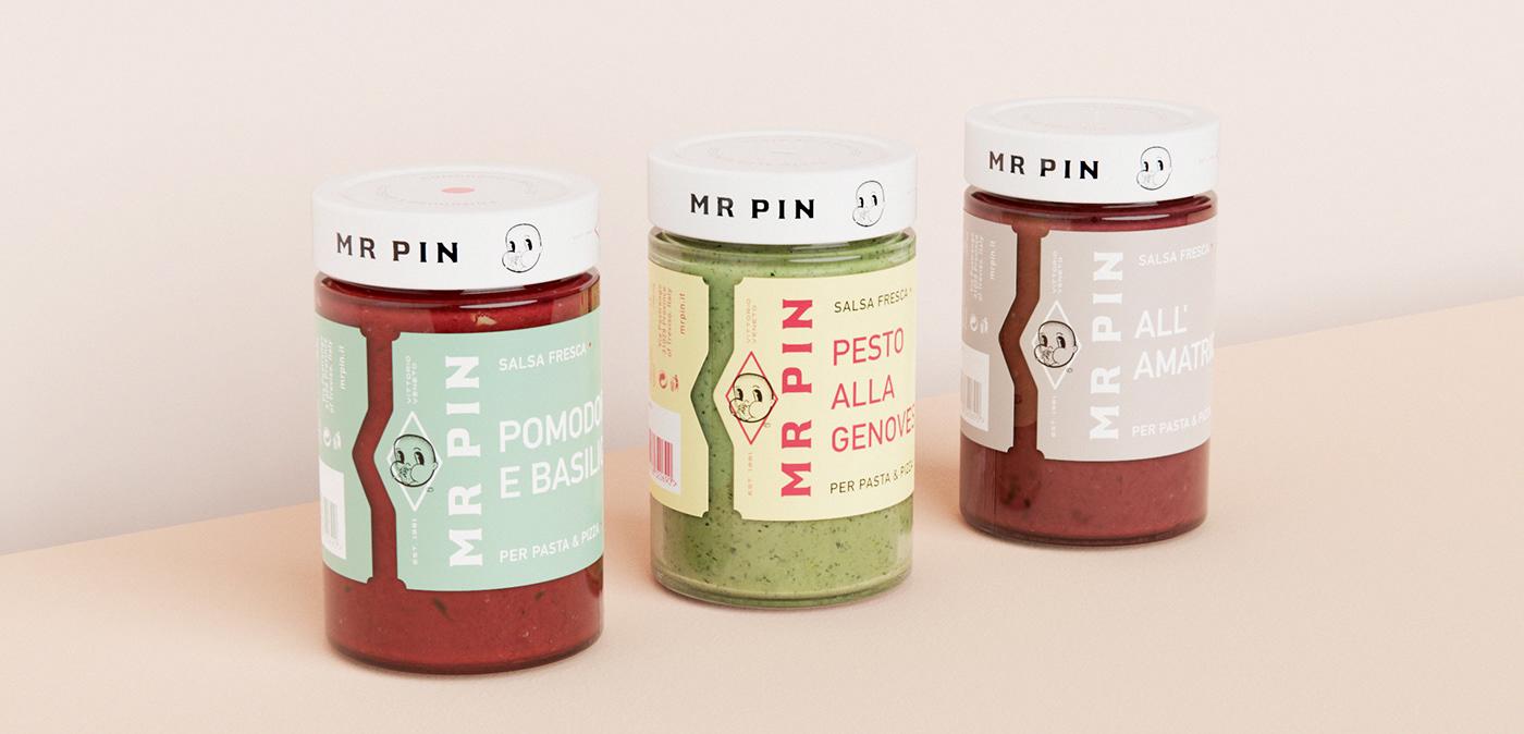 Mr Pin Salsa Fresca Minimal Packaging Design