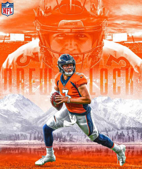 Brandon Long – NFL Illustrated Sports Posters – Drew Lock