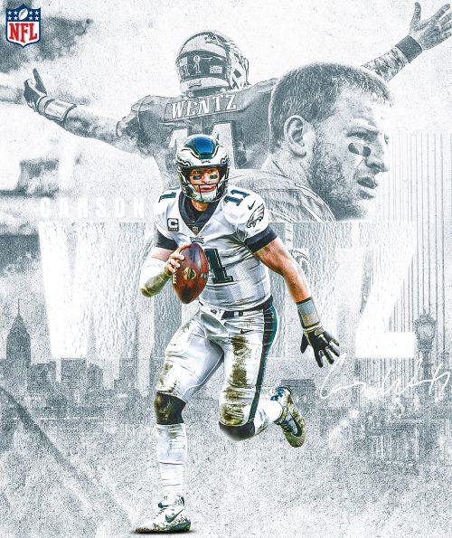 Brandon Long – NFL Illustrated Sports Posters – Carson Wentz