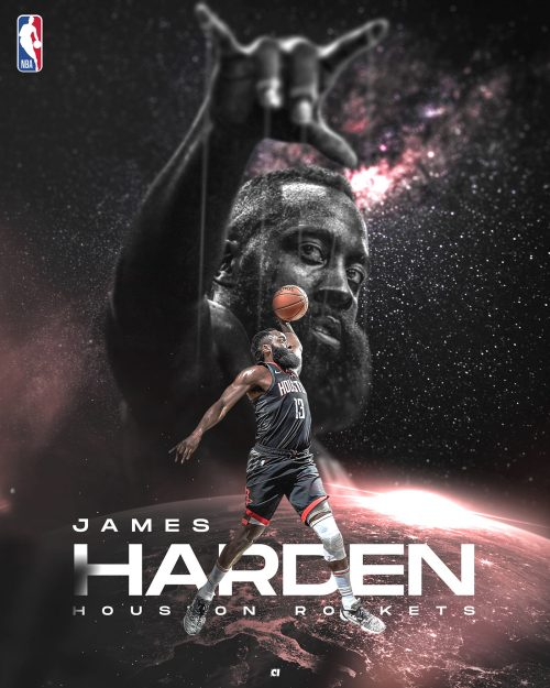 Kevin Acquino NBA Basketball Sports Graphic Design – James Harden