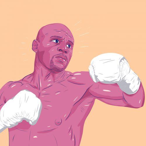 ESPN – DOMINANT 20 – Sports Athlete Illustrations – Floyd Mayweather