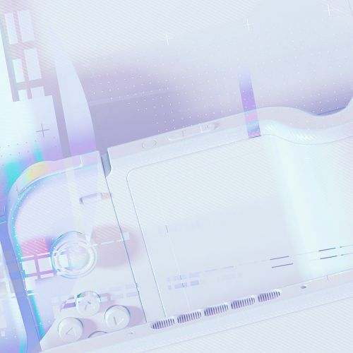 SPECTRUM Spec Futuristic Vaporwave Game Console Glitch 3D