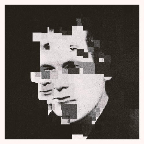 Camille Raviart Perfect Strangers Black and White Pixelated Effect Graphic Design