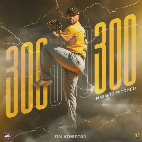 Brisbane Bandits Milestone Graphics – Sports MLB Baseball Stats – Simeon Thomas