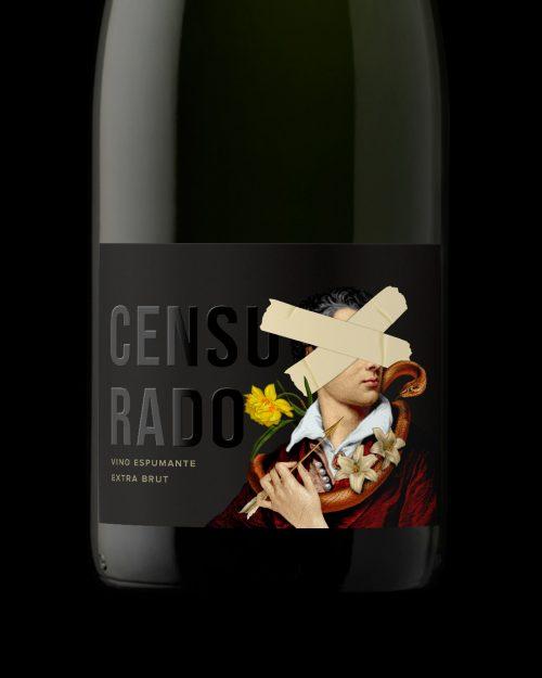 Censurado (censored) Wine Label Floral Victorian Product Design