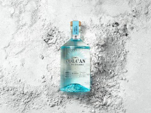Volvan De Mi Tierra Tequila Alcoholic Beverage Bottle Minimal Packaging Product Photography