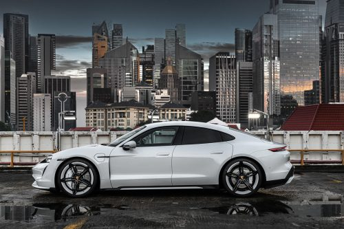 Porsche Taycan Turbo In Singapore Luxury Automobile Car Photography