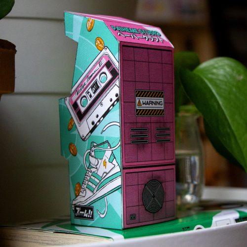 Arcade Machine Papercraft Japanese Inspired