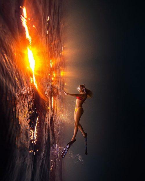 Underwater Sunset Photography
