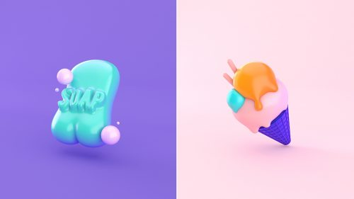 3D Emoji Reactions – Soap Ice Cream