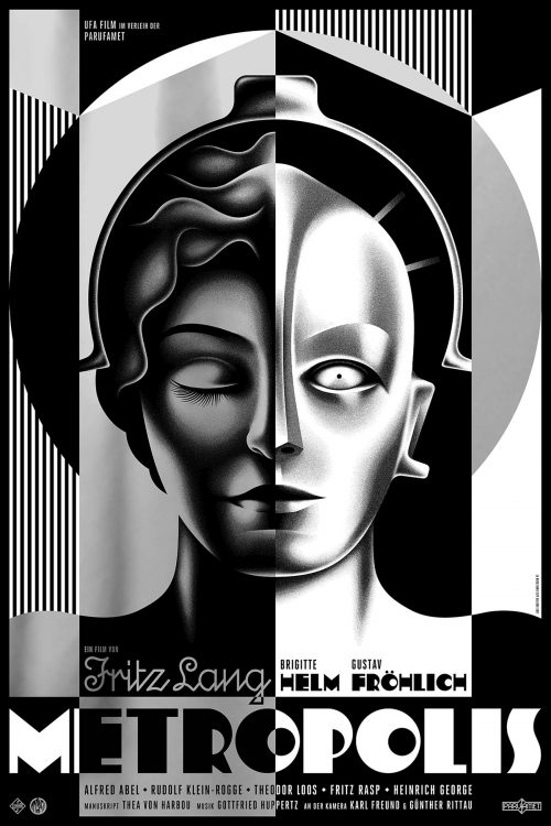 Metropolis Art Deco Key Art Movie Poster Design