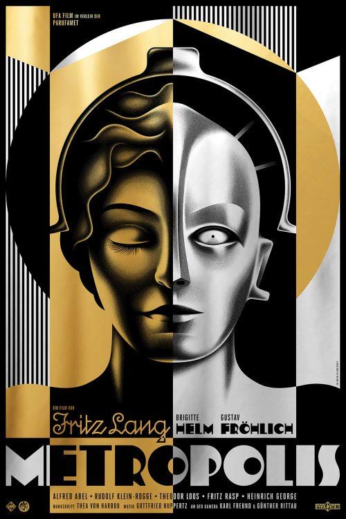 Metropolis Art Deco Key Art Movie Poster Design