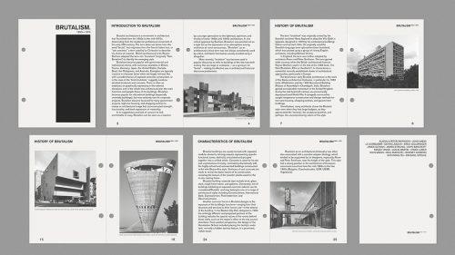 ARCHIVE BRUTALISM Minimal editorial layout BRUTALIST POSTER DESIGNS