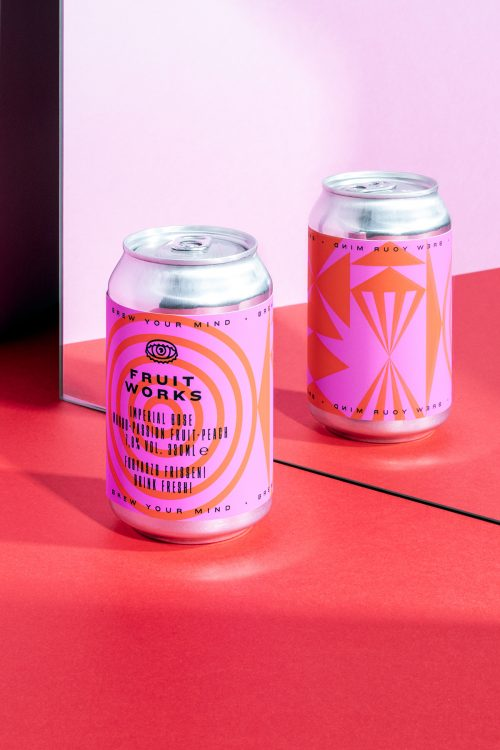 Brew Your Mind Seasonal Beer Can Product Packaging Minimal Modern Design