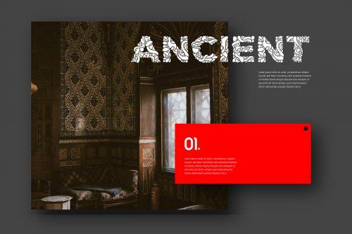 Batique Font Typeface – Indonesia Batik pattern Poster Editorial Design – Ancient