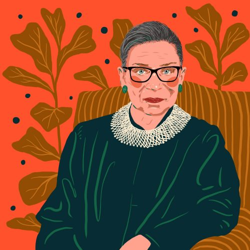 Illustrations by Monique Aimee – Ruth Bader Ginsberg Judge