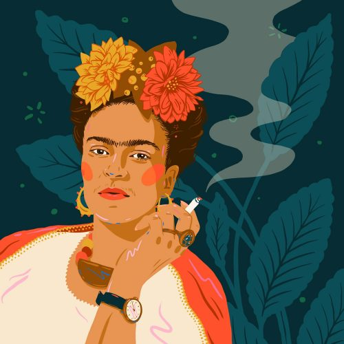 Illustrations by Monique Aimee – Frida Kahlo Smoke