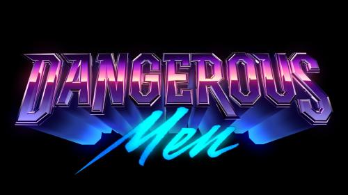 3D Chrome Dedication Retro futuristic vaporwave cyberpunk 80s Logo Metallic – Dangerous Men