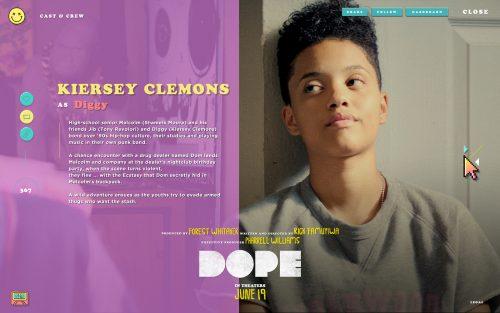Dope Theatrical Movie Tumblr Website Design UI UX Colors Layout