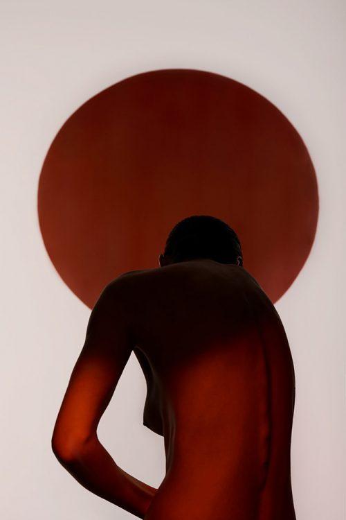 Anima Red Sun Naked Shadow Seductive Photography
