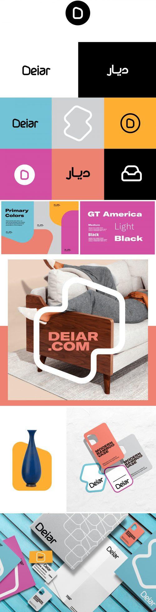 Deiar Home Furniture Interior Design Brand Identity Branding Design