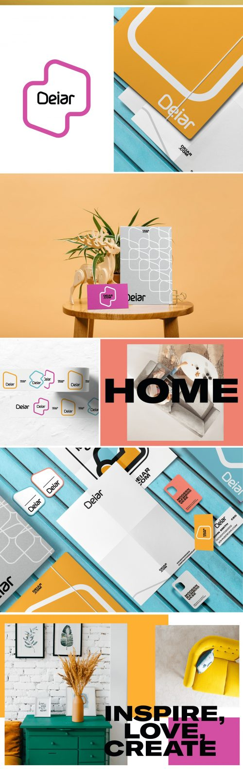 Deiar Home Furniture Interior Design Brand Identity Branding Design