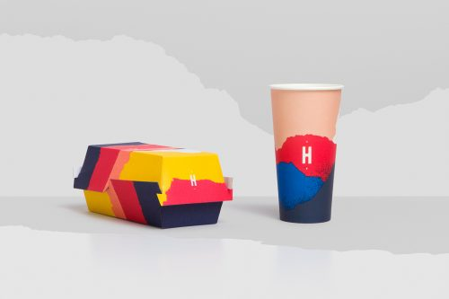 Huxtaburger Food Burger Restaurant Branding Identity Design Paper Tears