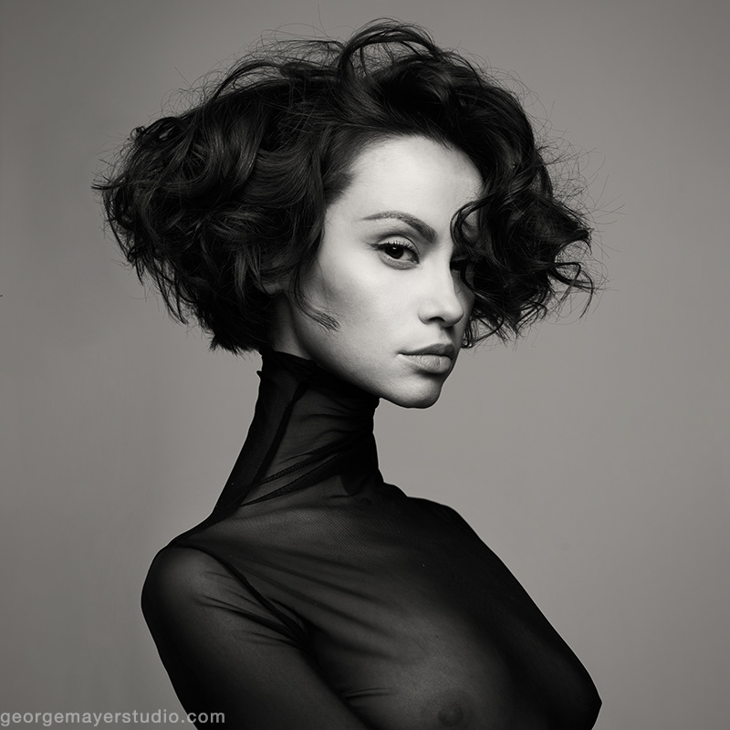 Elegant Black Dress Black and White Fashion photography