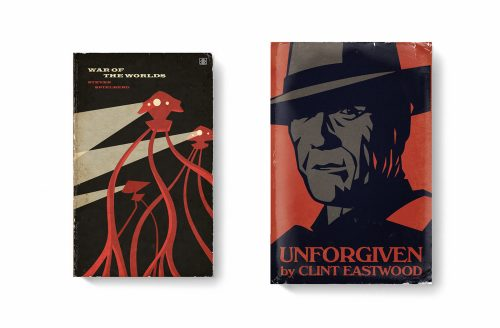 Good Movies as Old Books Avant Garde Vintage Designs Book Cover Illustrations – War of the ...