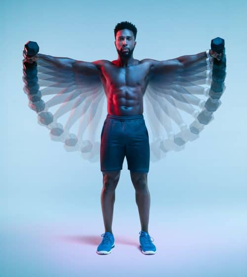 Men's Health Magazine Bodies in Motion Fitness with Jean-Yves Lemoigne Chronophotography P ...