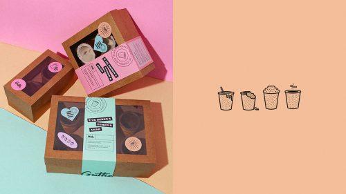 Guttie Handmade Cookies Dessert Brand Identity Branding Design
