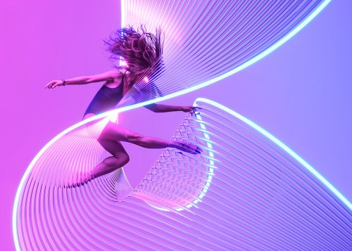 Motion in Air Vibrant Colorful Lights Motion Neon Glows