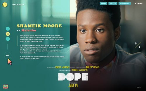Dope Theatrical Movie Tumblr Website Design UI UX Colors Layout