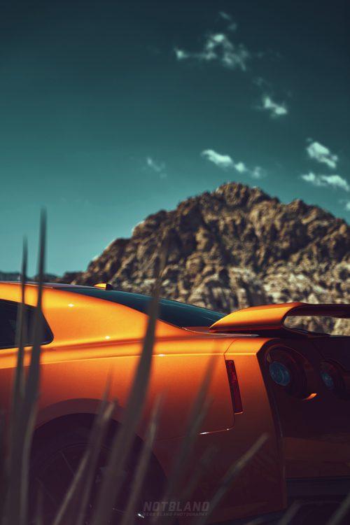 2017 Nissan GT-R Close up Cropped Portrait Automobile Car Photography