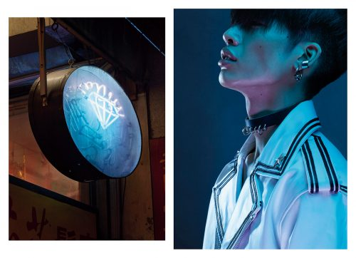 Lower East Side New York City neon sign fashion photography