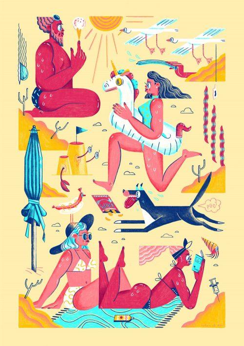 Illustrations by Helen Li summer party