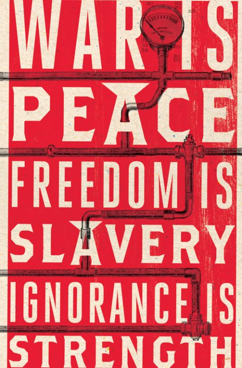 Novel Book Art Jacket Cover Design Story Editorial Magazine 1984 War is Peace Freedom is Slavery ...