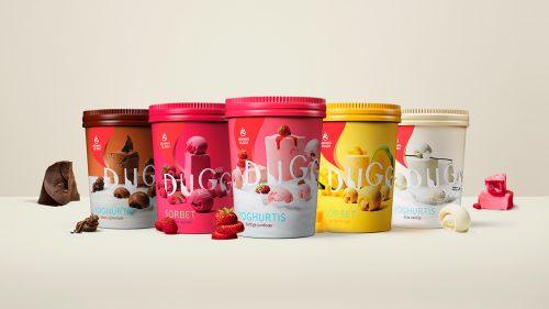 DUGG from Hennig-Olsen Ice Cream frozen yogurt sorbet food brand photography branding