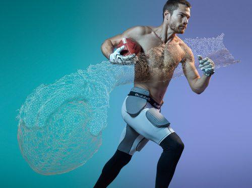 photograpy 3d scans photogrammetry athlete movement body human football athelete