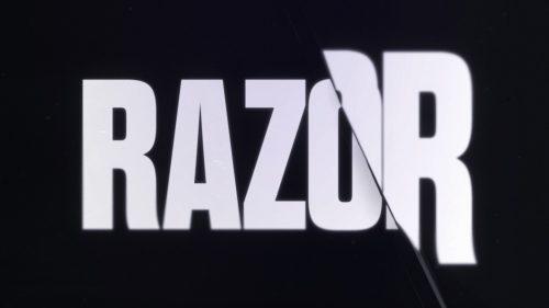KDA – The Baddest – Distorted Sans Serif Text Type Razor