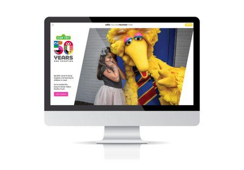 Sesame Street 50th Anniversary Blocks Illustration Branding