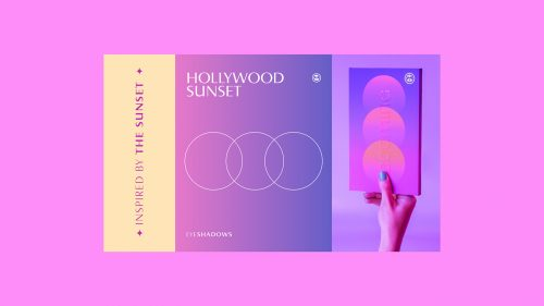 BOOMING Beauty Make Up Gradient packaging design and branding