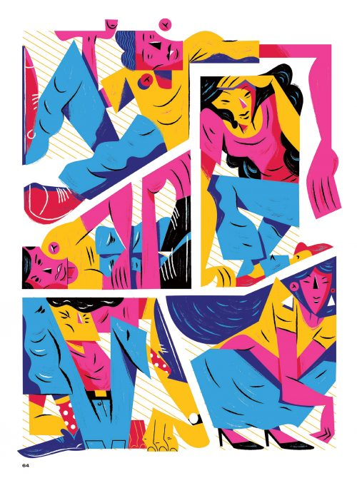 Galileu – Janeiro 2019 Bold Dynamic Vibrant Typography Magazine Editorial Illustrations