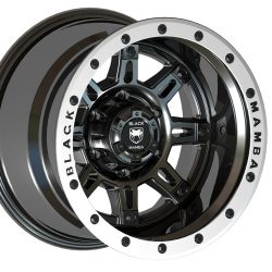 Black Mamba M-17 15x10 Matt Black with Machine Face